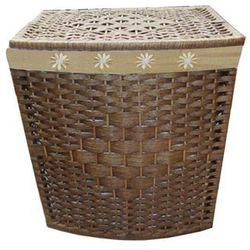 Kosz na pranie prostokątny brązowy - średni (5907569717705)