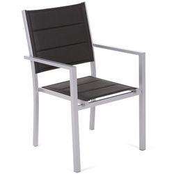 Krzesło ogrodowe aluminiowe Corfu Silver / Black