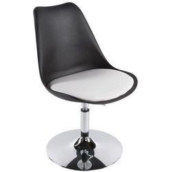 Kokoon design - krzesło obrotowe victoria iii z białym siedziskiem - czarne