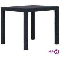stolik ogrodowy, 79x79x72 cm, plastik stylizowany na rattan marki Vidaxl