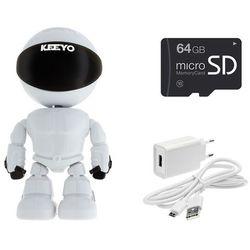 Lv-ip27ptz z microsd 64gb kamera do obserwacji niani opiekunki ukryta ptz robot ip fullhd niania elektroniczna 2mpx ir 10m marki Keeyo