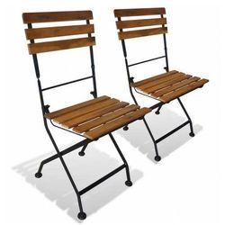 Ogrodowe krzesła akacjowe Dixter - 2 szt