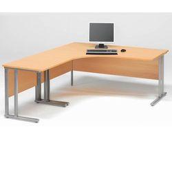 Zestaw biurko skrętne lewe + biurko dostawka Kolor blatu: Buk laminat