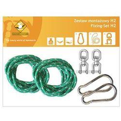 Zestaw montażowy h2 do hamaków, zielony koala/zh2 marki La siesta