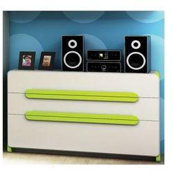Komoda 3 szuflady Limo, popielato-zielona, Timoore