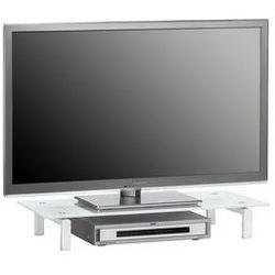 Maja-möbel Stolik pod telewizor, 82 cm, biały, szkło, metal, 16039746