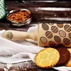 Pisanki - grawerowany wałek do ciasta - pisanki - 44 cm grawerowany wałek do ciasta marki Mygiftdna
