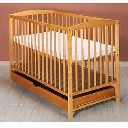 łóżeczko dla niemowląt maja 60x120 cm z szufladą - słomka marki Mamo-tato