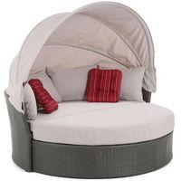 Home&garden Meble ogrodowe  sofa z baldachimem sydney szaro-jasnoszary + darmowy transport! (5902425322192)