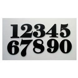 Numer, Numery, Cyfry na Drzwi z alu czarne 6,5 cm