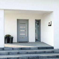 Kinkiet Nowodvorski Flat 9422 lampa ścienna ogrodowa 1X12W LED IP54 biały / grafit (5903139942294)