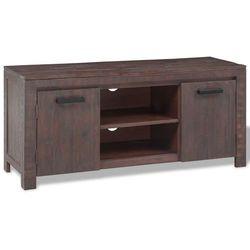Vidaxl  szafka pod tv z drewna akacjowego, wykończona ogniem 120x38x55cm (8718476012381)