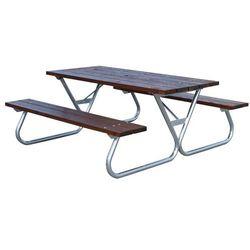 Bardzo długa ławka piknikowa bez oparcia