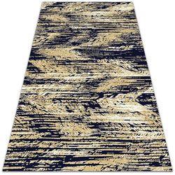 Modny uniwersalny dywan winylowy Modny uniwersalny dywan winylowy Żółte pasy retro