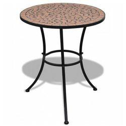 Stolik ogrodowy ceramiczny Valen – terakota, vidaxl_41528