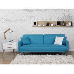 Sofa z funkcja spania morska - kanapa rozkladana - wersalka - LUCAN, produkt marki Beliani