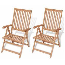 Elior Zestaw drewnianych krzeseł ogrodowych - onder
