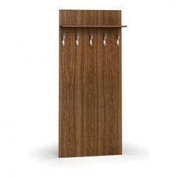 Garderoba z wieszakami, 5 haczyków, półka, orzech marki B2b partner