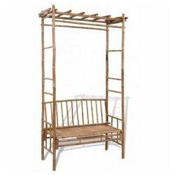 Drewniana ławka ogrodowa zenta - brązowa marki Elior