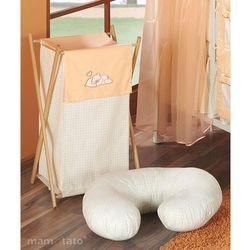 MAMO-TATO Kosz na bieliznę Śpiący miś brzoskwiniowy z kategorii kosze na pranie