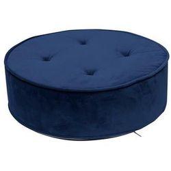 Pufa lona velvet niebieska - niebieski marki Intesi