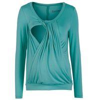 Shirt ciążowy i do karmienia piersią, do noszenia również po porodzie  matowy turkusowy, Bonprix, 44-54