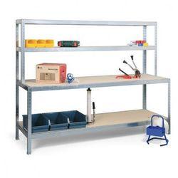 Stół do pakowania z półkami, długość 2500 mm