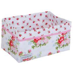 Little Dutch - Kosz do przechowywania, duży - White With Pink Roses, kup u jednego z partnerów