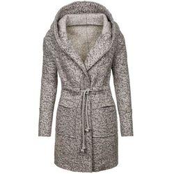 Szary płaszcz damski Denley 6219 - SZARY, płaszcz damski AAA