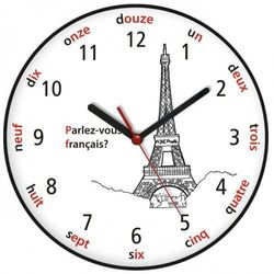 Zegar języki świata Wieża Eiffla