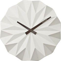 Zegar ścienny origami biały marki Karlsson