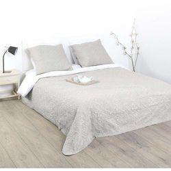 Atmosphera créateur d'intérieur Beżowa narzuta z poduszkami ozdobnymi, kapa na łóżko, narzuta na wersalkę, narzuta pikowana, narzuty na łóżko do sypialni, kapa (3560239258407)