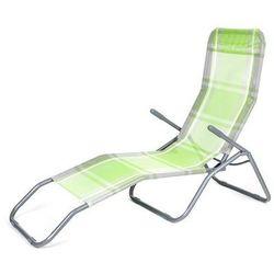 Happy Green leżak plażowy w kratkę - zielony/biały