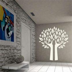 Wally - piękno dekoracji Szablon na ścianę drzewo 2378