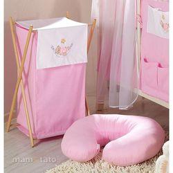 MAMO-TATO Kosz na bieliznę Miś w hamaku w różu z kategorii kosze na pranie