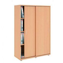 B2b partner Szafa variant z przesuwnymi drzwiami, 1000x400x1433 mm, klon, kategoria: szafy i witryny