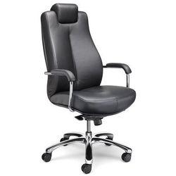 Krzesło obrotowe dla operatora, biurowe krzesło obrotowe, miękka skóra, czarny, marki Nowy styl