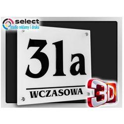 Select Tabliczka adresowa numer na dom 3d - 30x25 + dystanse