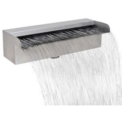 prostokątna fontanna basenowa lub do oczka stal nierdzewna 30 cm marki Vidaxl