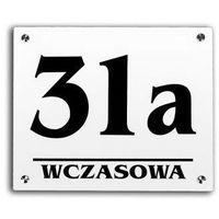 Tabliczka adresowa numer na dom 40x35 + dystanse marki Select