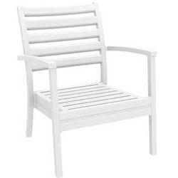 Klasyczny fotel ogrodowy Artemis XL biały z kategorii krzesła ogrodowe