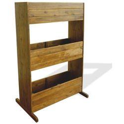 Donica ogrodowa, 3-poziomowa, lite drewno akacjowe marki Vidaxl