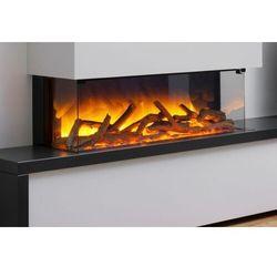 Kaseta do montażu ściennego lub zabudowy flamerite fires glazer 900-1/2/3 szyby. efekt nitra flame 20 kolorów ognia -promocja marki Flamerite fires - nowość 2021