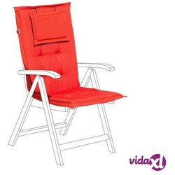 Beliani poducha na krzesło toscana jasnoczerwona (4260586359893)