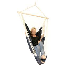 Krzesło hamakowe ogrodowe z oparciem na nogi,