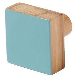 Wieszaczek drewniany Nantua niebieski (3663602675457)