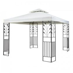 Blumfeldt odeon beige pavillon namiot imprezowy/namiot stały 3 x 3 m stal/poliester kolor jasnobeżowy (4260486150323)