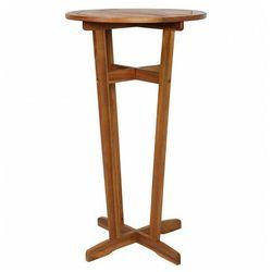 Drewniany barowy stolik ogrodowy - clarke marki Elior