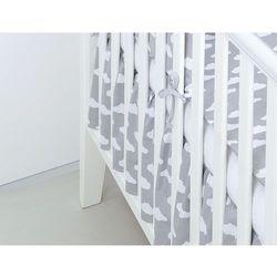 Mamo-tato falbanka do łóżeczka chmurki białe na szarym
