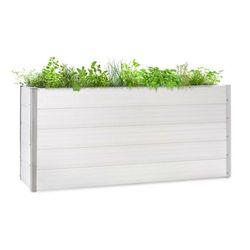 Blumfeldt Nova Grow, podniesiona grządka, 195 x 91 x 50 cm, WPC, imitacja drewna, biała (4060656226496)